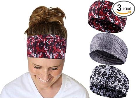 Amazon.com   Devlin Headbands for Womens Yoga Workout Fitness ... e48c1539e7