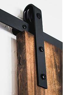 USA Made 6 Ft 6 In Sliding Wood Barn Door Hardware Kit Artisan Hardware  Classic Barndoor