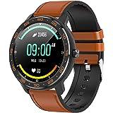 Tititek wb03 Reloj inteligente para teléfonos Android e iOS, reloj inteligente redondo para fitness, IP68, natación, impermea