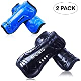 GeekSport Soccer Shin Guards Youth - 2 Pair 3 Sizes Shin Pads Child Calf Protective Gear 3-15 Years Old Girls Boys…