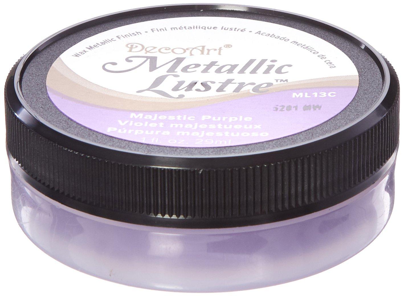 Artdeco DecoArt Metallic Lustre, cera per finitura, 28,3 g, colore Majestic Purple, (Etichetta in lingua inglese) Notions Marketing ML-81-13