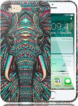 NALIA Housse Lumineux Compatible avec iPhone Se 2020/8 / 7 Coque, Slim Case Fluorescent Cover Anti-Choc Silicone Couverture, Mince Telephone Portable ...