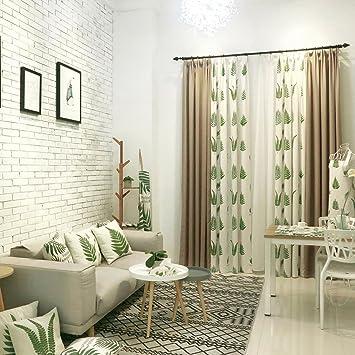 Country Lin Chambre A Coucher Fenetre Rideaux Pour Le Salon Vert De