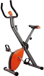 Starshaper - Bicicleta estática Plegable (89 x 43 x 114 cm), Color Naranja
