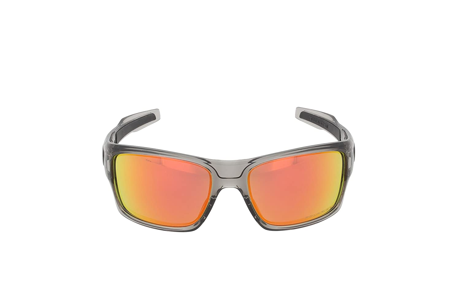 4fa7c06945 Amazon.com  Oakley Mens Turbine Active Sunglasses One Size Grey Ink Ruby  Iridium Polarized  Oakley  Clothing