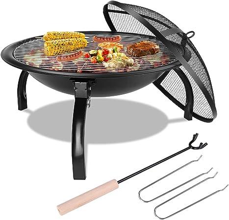 Femor Barbecue Grill Extérieur Portable,Pliable,Petit Brasero d'extérieur au Charbon,Jardin Grill brasero,pour Jardin Terrasses BBQ,Le Barbecue en