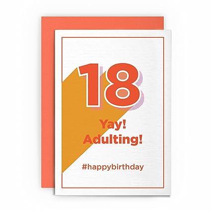 Tarjeta de cumpleaños 18 cumpleaños divertida Rude Humorous ...