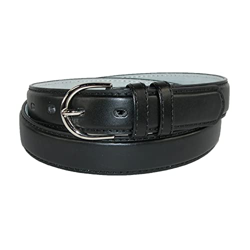 CTM® Womens Leather 1 Inch Basic Dress Belt