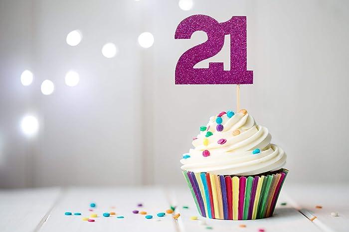 Amazon 21 Cupcake Topper 21st Birthday Handmade