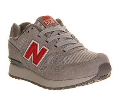 size 40 4ea9e d1deb New Balance Kids 595 Lace 10-2 Grey Red - 1 youth UK