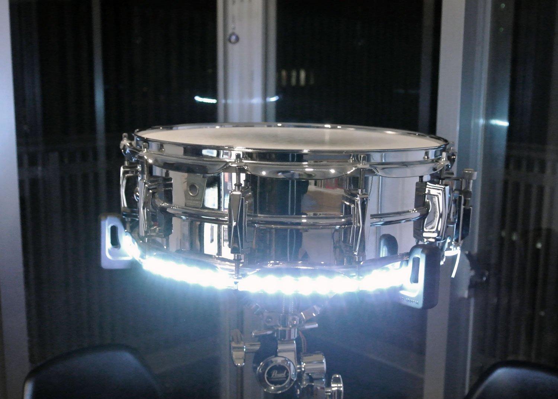 Drummer Japan スネア ライトニング LED 光るドラム!【トリガー連動で叩くと光る】ホワイト   B00O6U2LLG