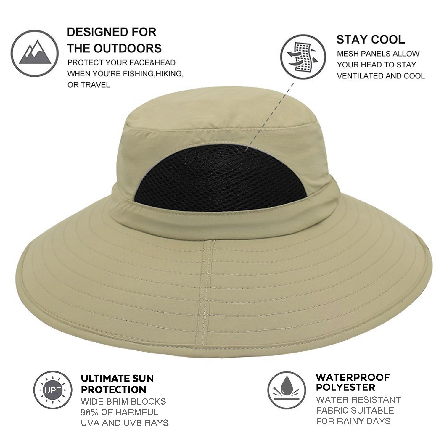 EINSKEY Sun Hat for Men Women a8bd674e23c