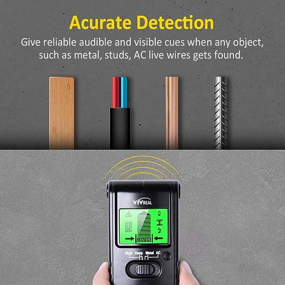 Sairis Portable Size 3 en 1 Multifuncional Stud Center Finder AC Live Wire Detector Esc/áner de Madera de Pared Multi Herramientas de Metal