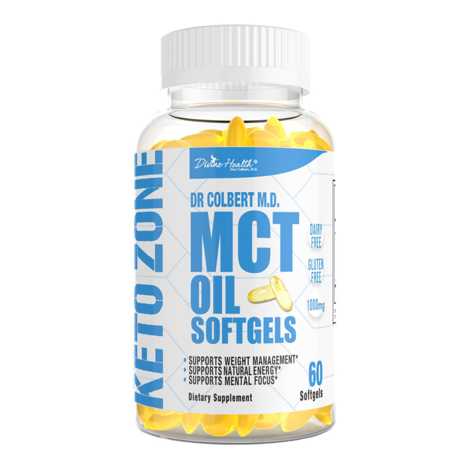 Amazon.com: Dr.Colberts Keto Zone All Natural MCT Oil Softgels 1000mg from Organic Coconuts - 60 Softgels - Ketogenic Approved: Health & Personal Care