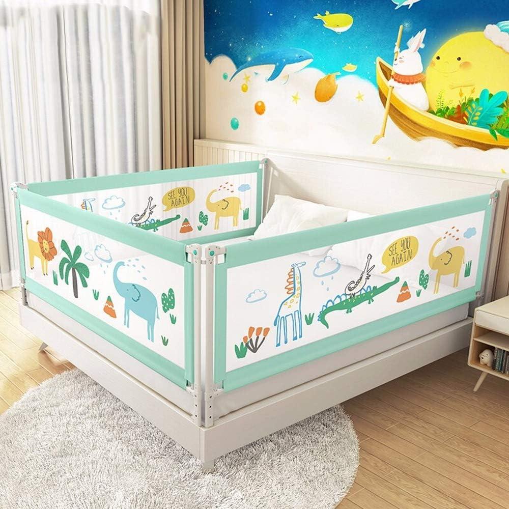 ベッドフェンス フェンスベビーベッド落下防止ベッド手すり安全保護垂直リフトベッドフェンスの1pcsの手すり 幼児の赤ちゃんと子供のために (色 : 緑, Size : 180cm)