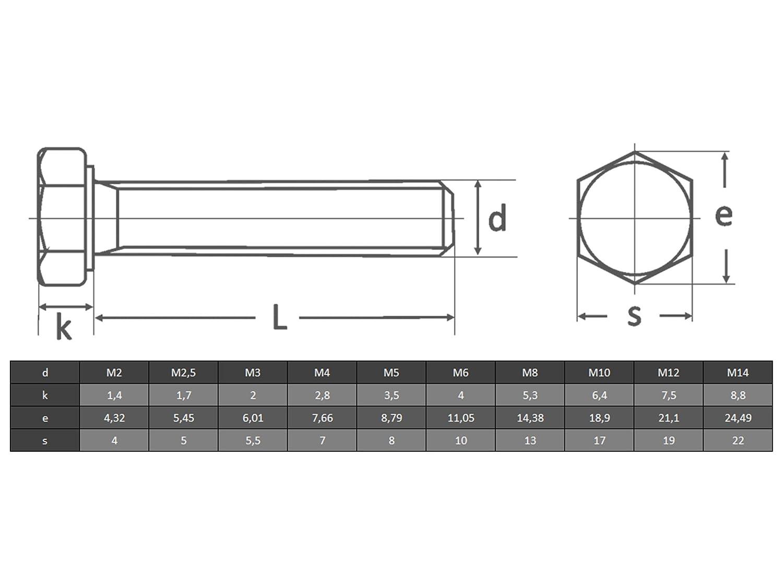 OPIOL QUALITY 20 St/ück Gewindeschrauben Au/ßensechskant   Maschinenschraube Sechskantschrauben M6 X 35 DIN 933 Edelstahl A2 Sechskant Schrauben