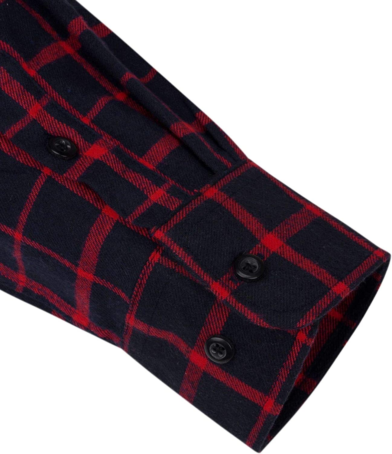 Alimens /& Gentle Mens Button Down Regular Fit Long Sleeve Plaid Flannel Casual Shirts