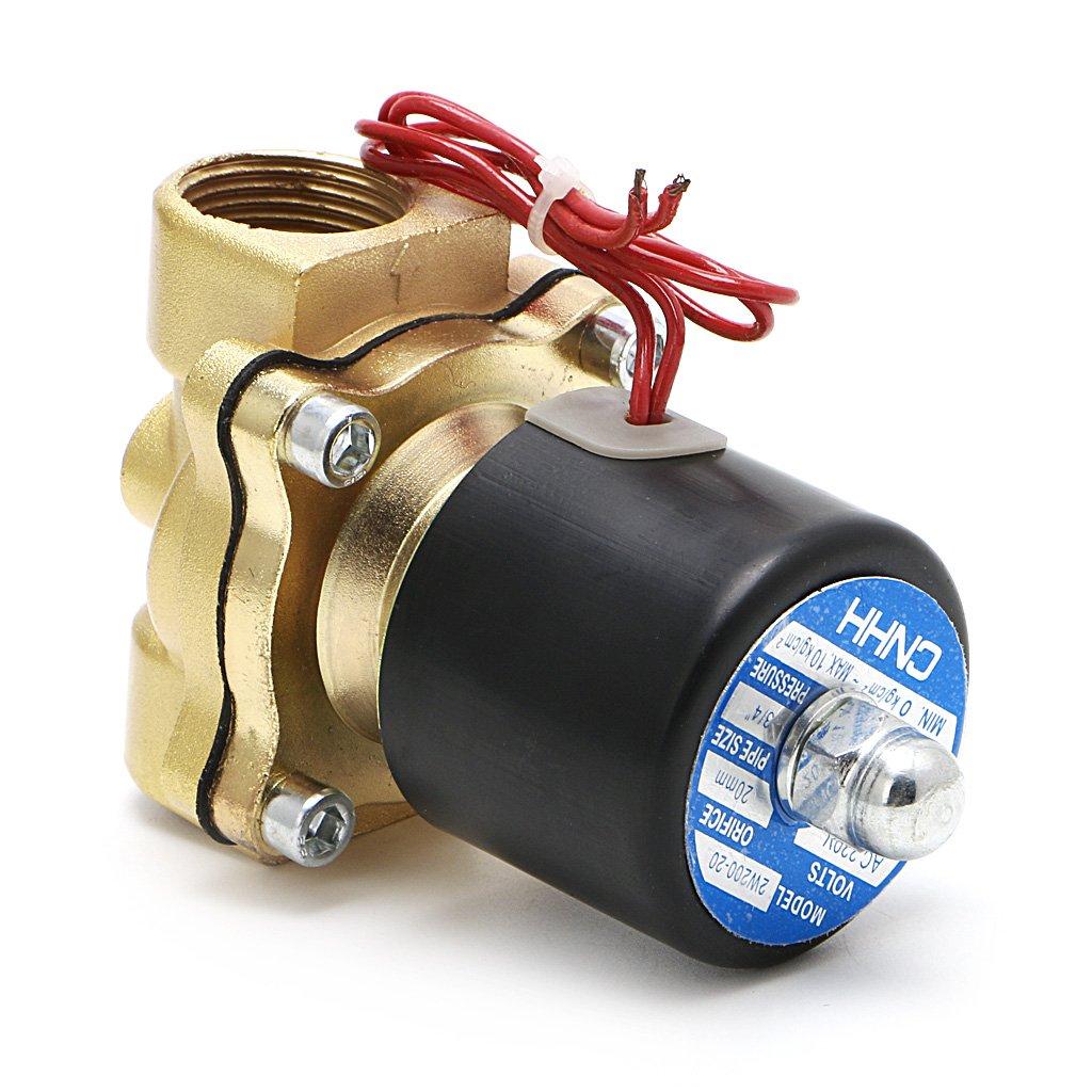 JUNESUN 3//4220V Electrovanne Electrique Pneumatique 2 Port Eau//Huile Air Gaz 2W-200-20