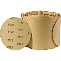 Pack of 10 POWERTEC 110540 8 PSA 60 Grit Aluminum Oxide Adhesive Sanding Disc
