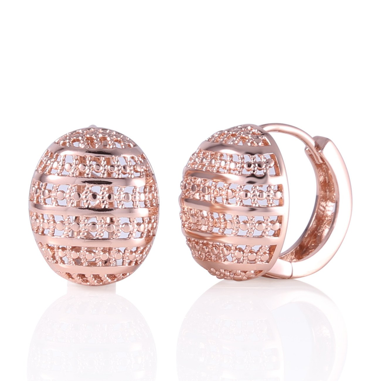 GULICX Rose Gold Tone Fashion Girl Women Party Gorgeous Hoop Earring for gift Gelei Jewelry Co. Ltd. E401c