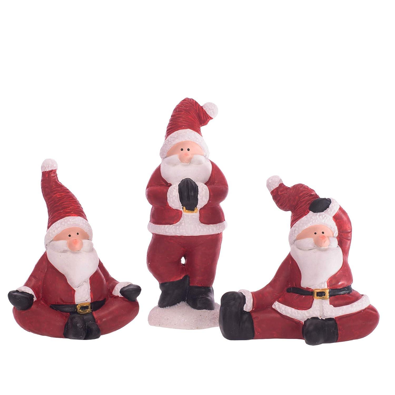 Mark Feldstein Yoga Santa Rosy - Figuras navideñas (6 x 3 cm ...