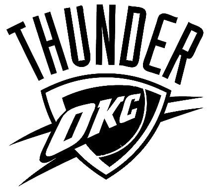 Oklahoma city thunder vinyl decal sticker for car