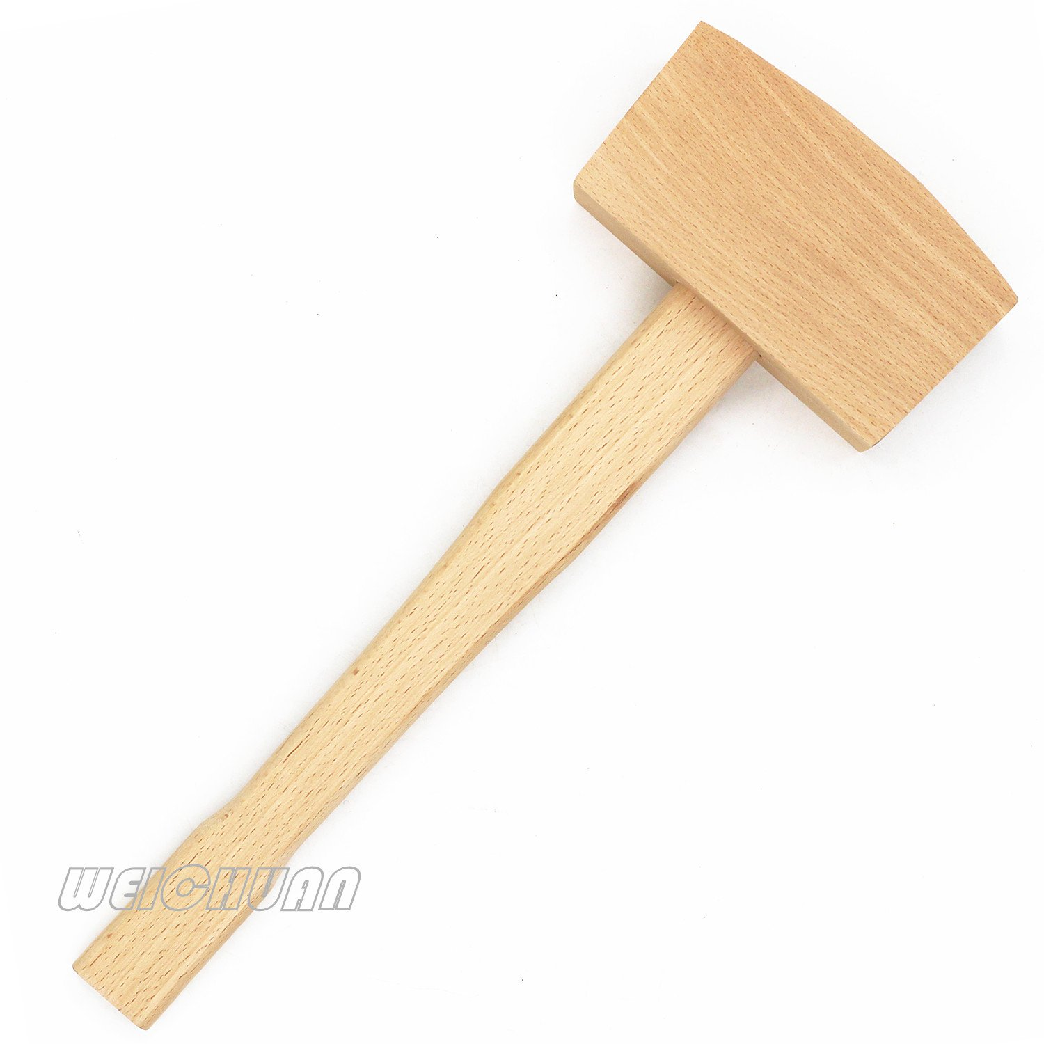 WEICHUAN 5'' Unfinished Beech Wood Mallet Ice Hammer Mallet - Solid Beechwood Damage-Free Striking Woodworking Carving Mallet Woodworking Hand Tool