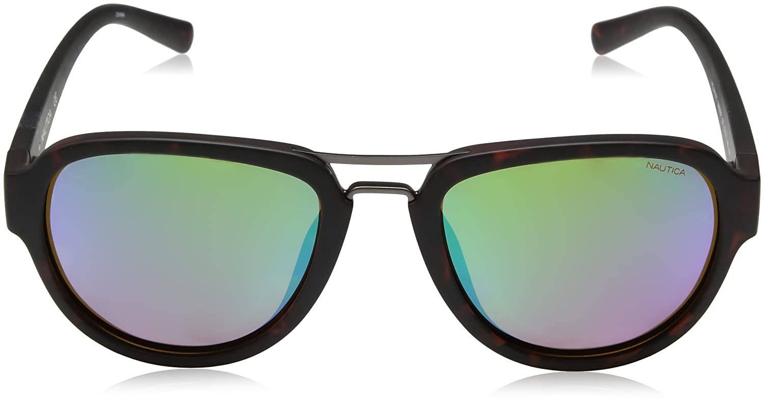 Amazon.com: Nautica Men s n3625sp Aviator anteojos de sol ...