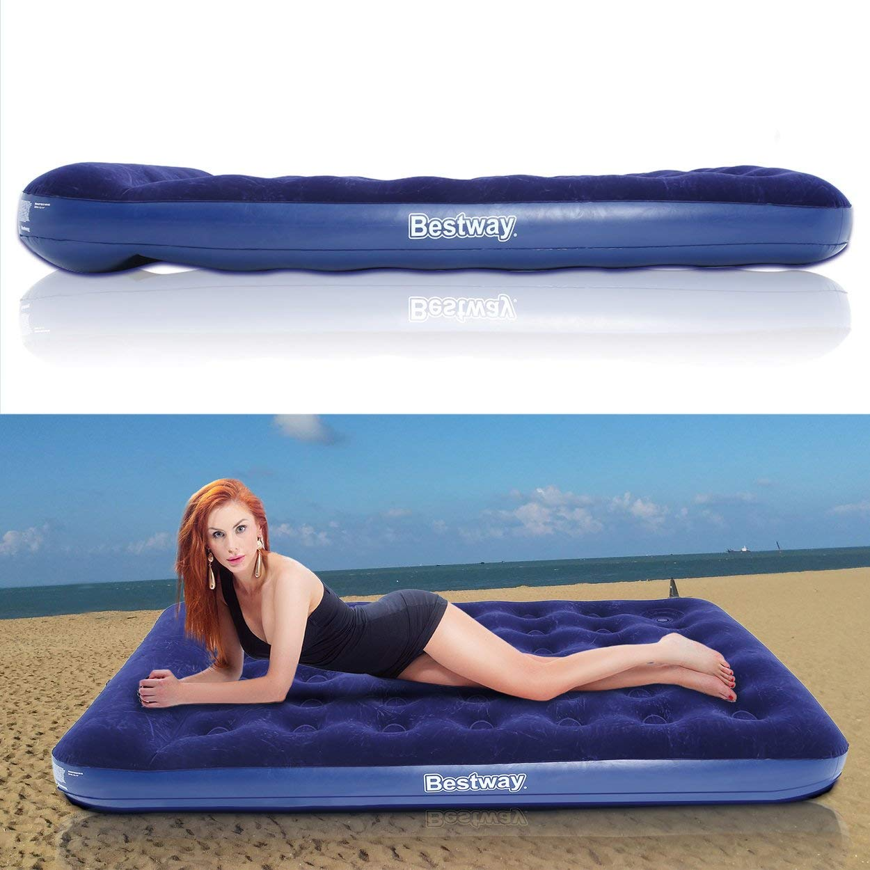 Dasny 2 Persons Large Size Air Moistureproof Camping Mats Inflatable Air Bed Outdoor Picnic Beach Mattress Sleeping Mats with Pump by Dasny (Image #8)