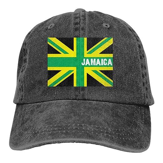 23602466ceb MHT3AC Jamaican Kingdom Flag Adult Cowboy Hat Baseball Cap Adjustable  Athletic Customized Awesome Hat at Amazon Men s Clothing store