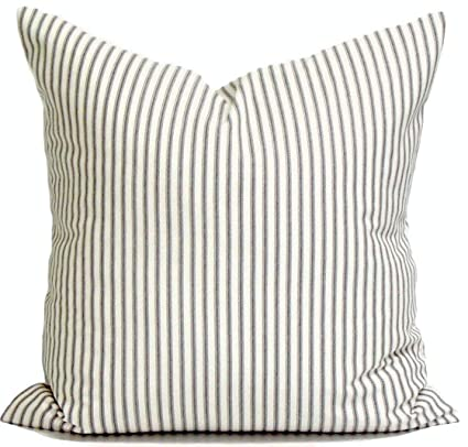 Amazon Com Ances Lincol Ticking Stripe Pillowcase Covers French