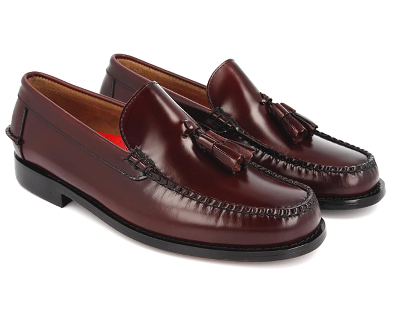 Castellanos Hombre Burdeos con BORLAS Burdeos KERRIMAN (46): Amazon.es: Zapatos y complementos
