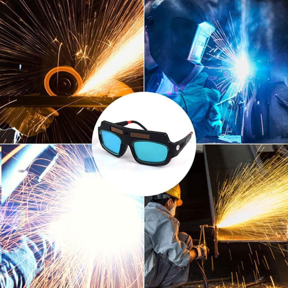 KOBWA Gafas de Soldar de Oscurecimiento Automático, Gafas de Protección para Soldar, Protección Para Los Ojos --Suministro de Energía Solar: Amazon.es: ...