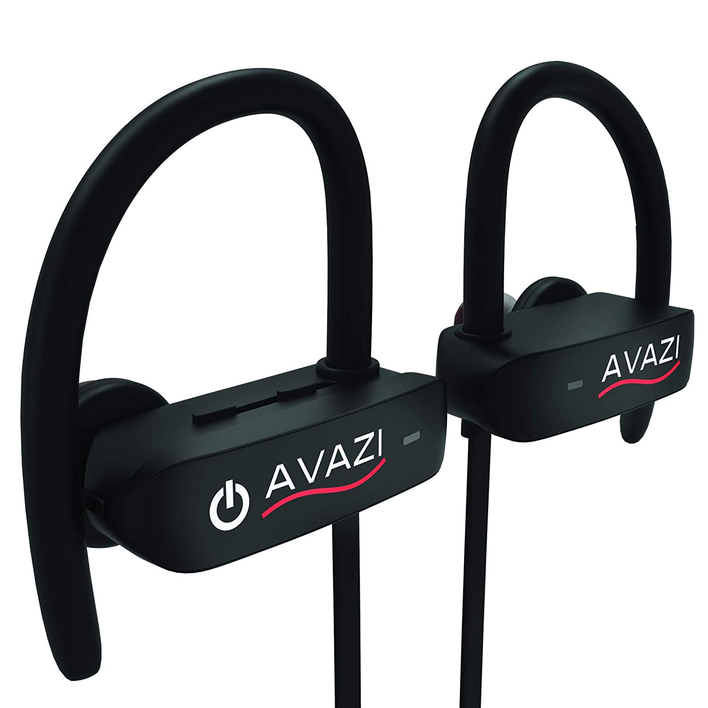 AVAZI Bluetooth Headphones Premium Quality Sport IPX7 Waterproof Wireless Sport Earbuds, Richer Bass HiFi Stereo in-Ear Earphones, 7-9 Hrs Playback, Running Headphones W CVC6.0 Noise Cancelling Mic