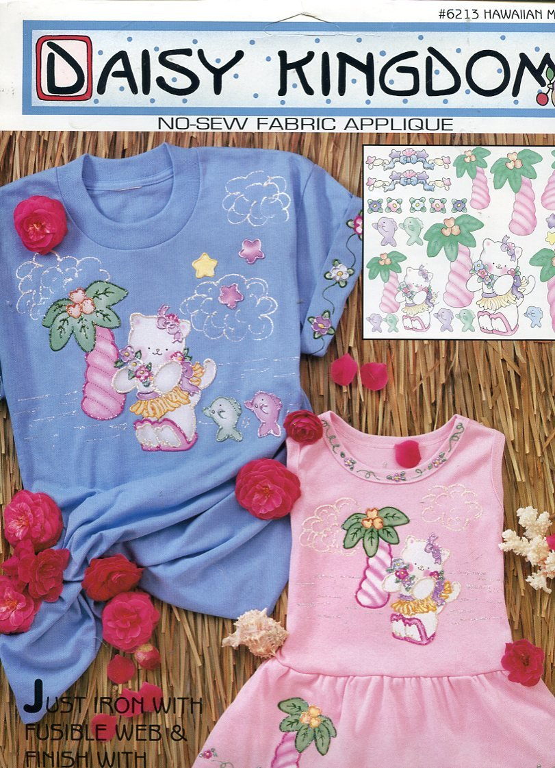 Daisy Kingdom No-Sew Fabric Applique ~ Hawaiian Meow by DAISY KINGDOM   B008L414B6