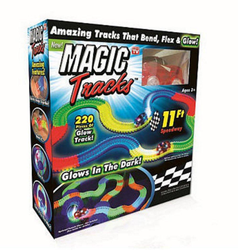 Magic Tracks With Bonus Glow In The Dark Stick And Hot Wheels Car 16
