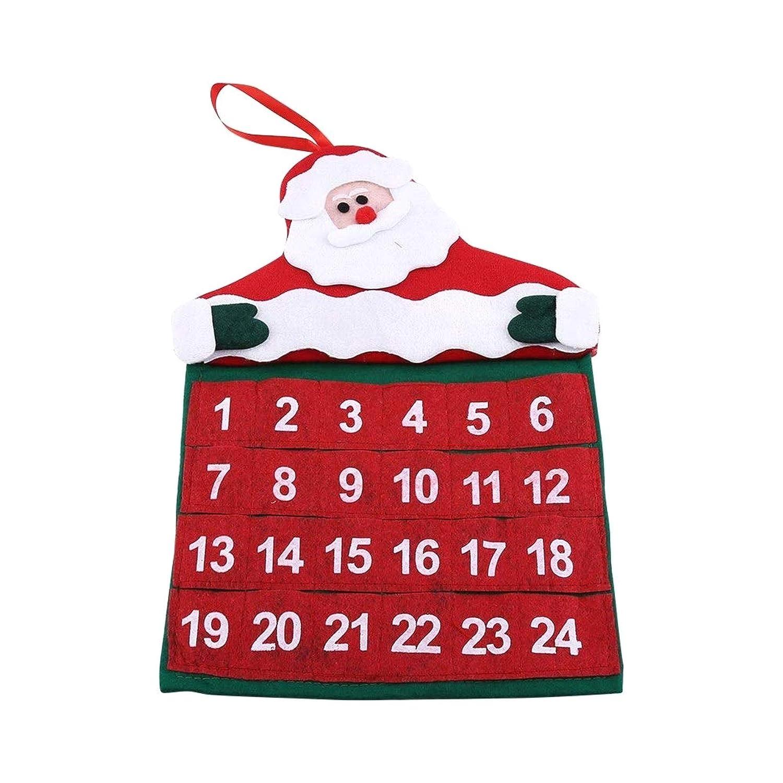 Calendario de Adviento de 24 d/ías Calendario de Cuenta Regresiva de Navidad Calendario de Cuenta Regresiva para Colgar en la Pared de Santa