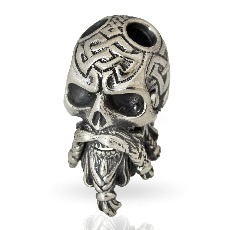 Amazon Paracord Bead Celtic Bearded Skull Metal DIY Paracord