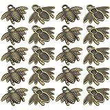 10pcs Argent Antique Bee Charms Abeille Pendentif Bijoux Making Findings TB