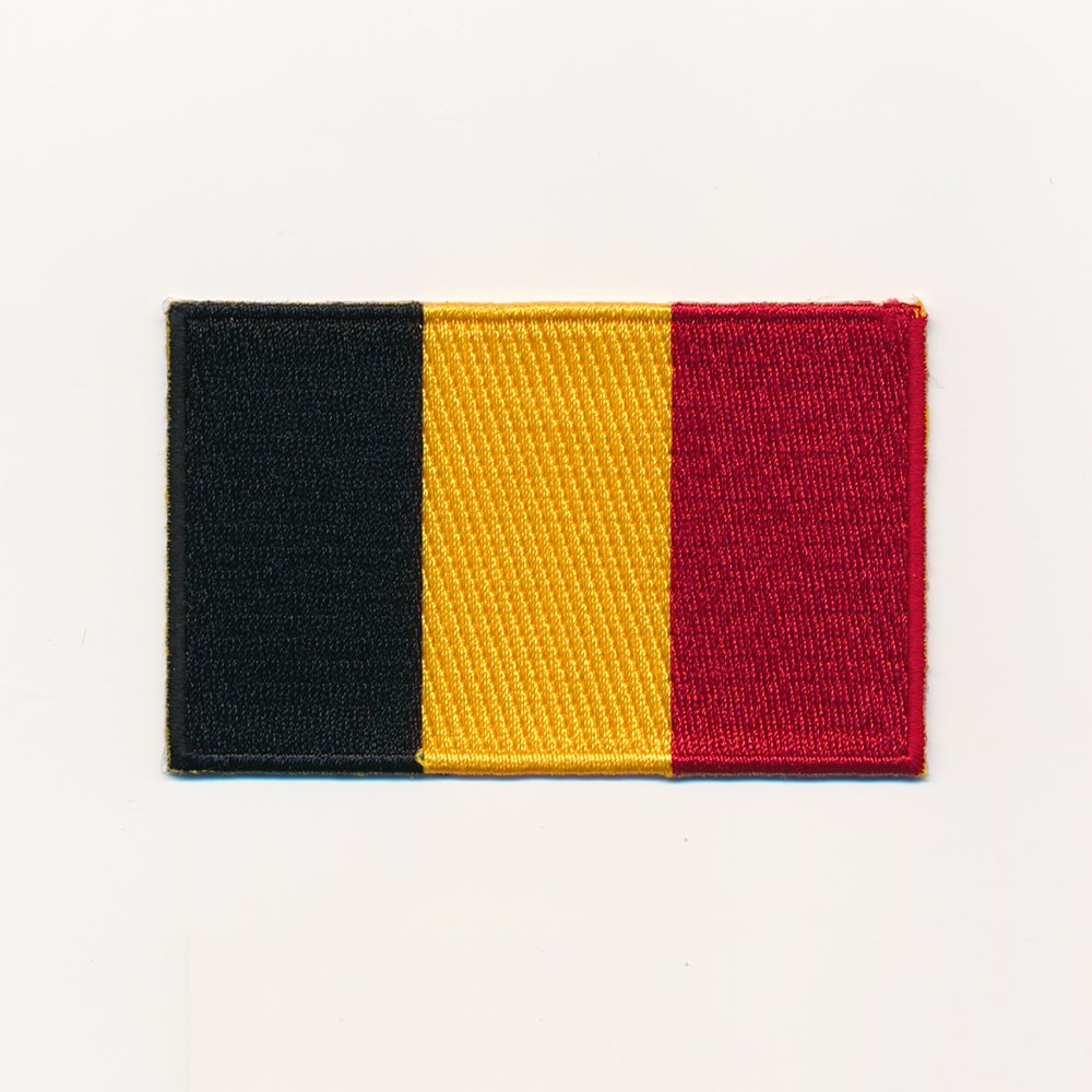 60/x 35/mm Uk Belgium Brussels Flag embroidered Iron-On 0959/W