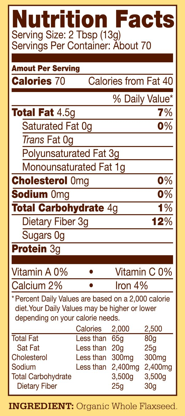 Bob's Red Mill Organic Brown Flaxseed Meal, 32 Ounce (Pack of 4) (Package May Vary) by Bob's Red Mill (Image #11)