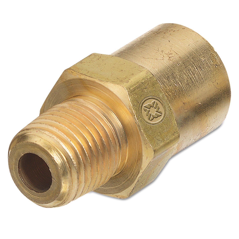 Western Enterprises AW-15A Inert Arc Adaptors, 200 PSIG, Brass, B-Size, 1/4'' (NPT), Inert Gas, Male/female Connection, 0.5 Length, B-Size