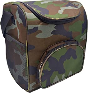 HMQINYI Large Cooler Bag, Camo Lunch Box for Men Insulated Lunch Bag Picnic Food Storage Box (Camouflage)