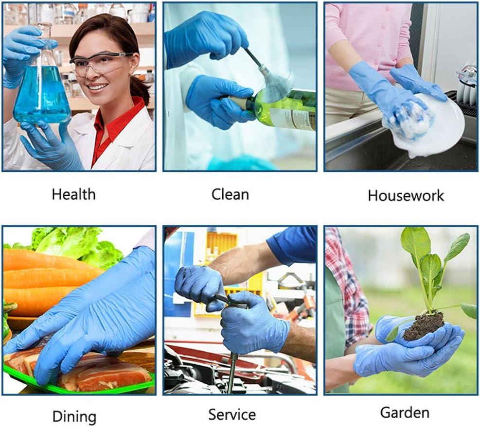 Handschuhe Lebensmittelhandschuhe Einweg-Kunststoffhandschuhe f/ür das Home-Kitchen-Restaurant FRWANG Blau Nitrilkautschuk Einweghandschuhe 100 STK das Industrial kocht,Blau,XS