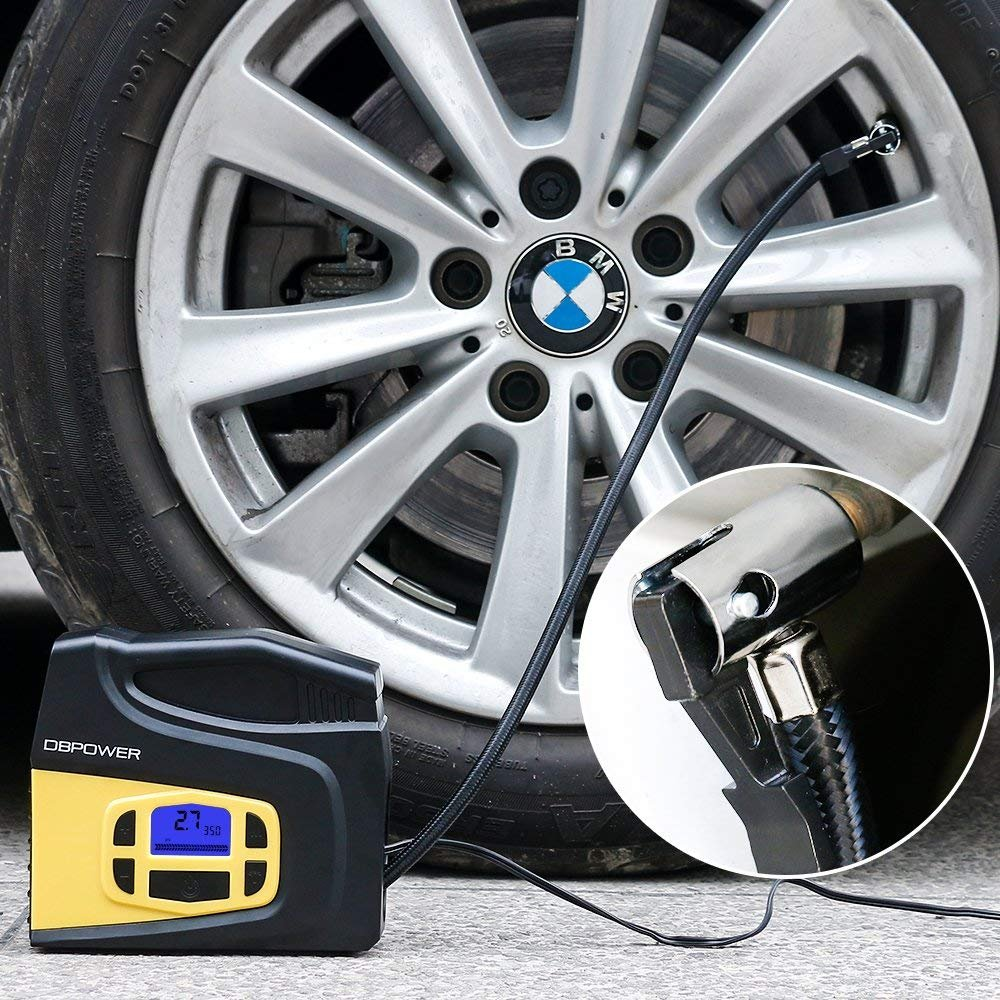 DBPOWER Portable 12V DC Tire Inflator, Digital LCD Display Air Compressor Pump for Cars, Bicycles and Balls with 3 Modes Function LED Lighting by DBPOWER (Image #7)