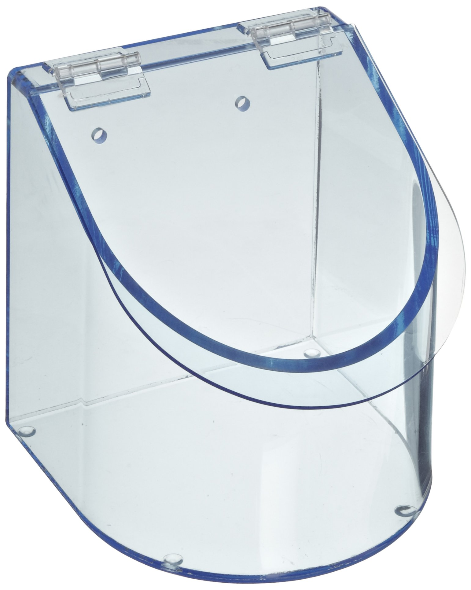 Heathrow Scientific HD23412 Neon Blue Acrylic Benchtop Dispensing Single Compartment Bin, 155mm Width x 155mm Height x 170mm Depth by Heathrow Scientific (Image #2)