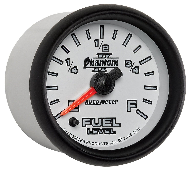 Auto Meter 7510 Phantom II 2-1/16'' Universal Stepper Full Sweep Fuel Level Programmable Empty - Full Range Gauge by Auto Meter (Image #5)