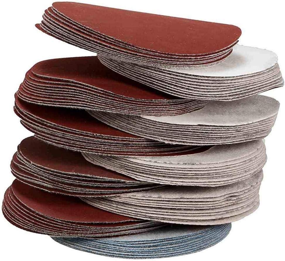 100 Pi/èces Disques Abrasifs 75mm Disques de Pon/çage Grain 80 180 240 320 400 600 800 1000 2000 3000 pour Meulage Fraisage Gravure
