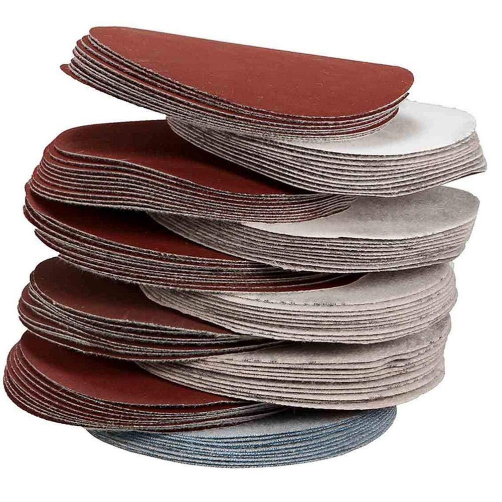 Grinding Disc: 80-3000 Scrub Set for Polishing Machine /Ø75 mm Round Sandpaper Suitable for Pneumatic Sanders VERLOCO 100 Sanding Disc Tablets