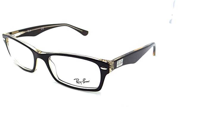 cc77ff2d819 Image Unavailable. Image not available for. Colour  Ray-ban Rx Eyeglasses  Frames Rb 5206 5373 52x18 Brown on Transparent Yellow
